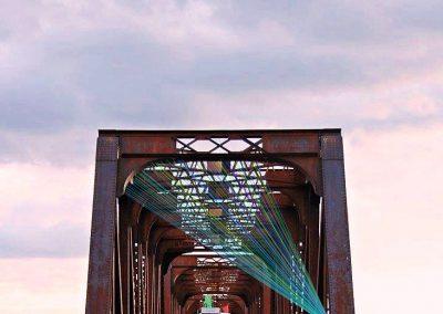 Maquette pont, 2018, montage graphique