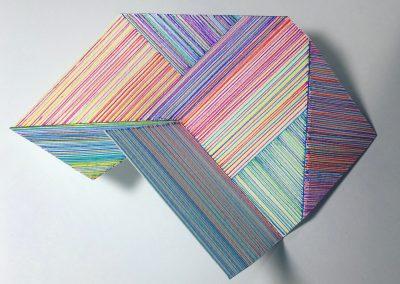 """Dessin permutable modulable, 2018, crayon, papier gravure, 6""""x6"""""""