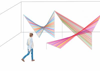 Maquette, Le Vortex (périmètre optique), 2018, montage graphique