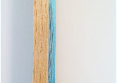 """Labradorite, 2016, bois, fil Gütermann, 56""""x24"""""""
