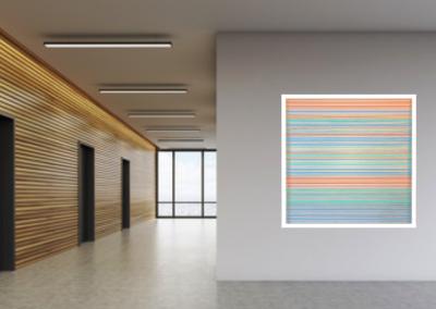 Maquette 8 intégration à l'architecture, 2019, montage graphique