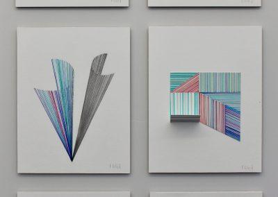 """Études sur papier gravure, 2019, 8.5"""" x 11"""""""
