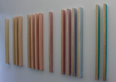 Labradorite, 2019, wood, thread, 72″x30″