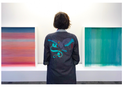 """Série écrans permutables, 2019, bois, fil, peinture acrylique, 45""""x45""""x15"""""""