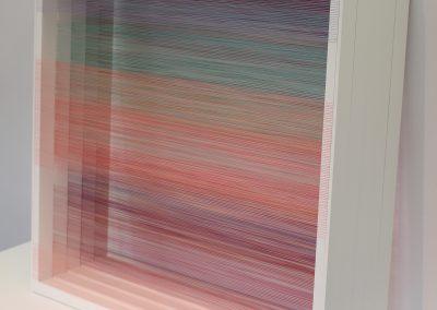 """Série écrans permutables, 2019, bois, fil, peinture acrylique, 30""""x30""""x15"""""""