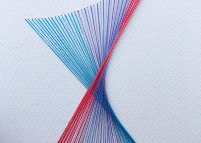 """Broderie sur papier gravure , 2019, 8.5""""x11"""""""