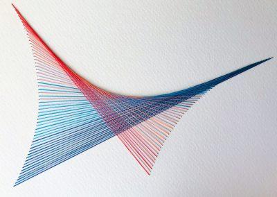 Broderie sur papier gravure , 2019, 8.5″x11″